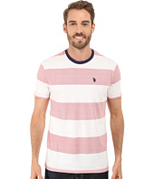 U.S. POLO ASSN. - Wide Stripe Crew Neck T-Shirt