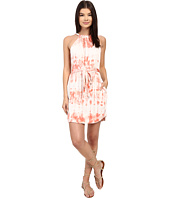 Gypsy05 - Halter Mini Dress with Waist Belt