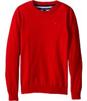 Tommy Hilfiger Kids - Long Sleeve Alan Crew Neck Sweater (Big Kids)