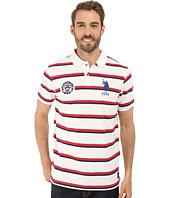 U.S. POLO ASSN. - Sporty Tri-Stripe Pique Polo Shirt