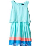 Tommy Hilfiger Kids - Flat Chiffon Crop Top Border Dress (Little Kids/Big Kids)
