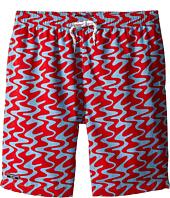 Toobydoo - Swirl Swim Shorts w/ White Lace Drawstring (Infant/Toddler/Little Kids/Big Kids)