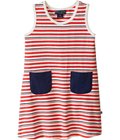 Toobydoo - Tank Dress w/ Navy Pockets (Infant/Toddler)
