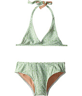 Toobydoo - Green/White String Bikini (Infant/Toddler/Little Kids/Big Kids)