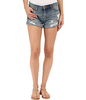 Blank NYC - Denim Cuffed Distressed Shorts