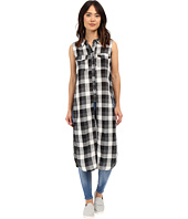 Blank NYC - Sleeveless Plaid Shirt with Slits