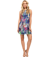 Aidan Mattox - Sleeveless Printed Mesh Party Dress
