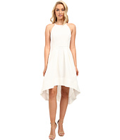 Aidan Mattox - Sleeveless Basket Weave Pattern Halter with High-Low Hem