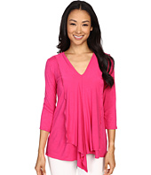 Miraclebody Jeans - Cerise Asymmetric Top w/ Body-Shaping Inner Shell