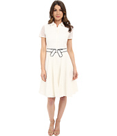 Badgley Mischka - Eyelet Combo Shirtdress with Belt