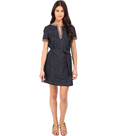 See by Chloe - Embellished Denim Short Sleeve Dress