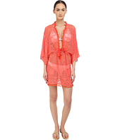 Roberto Cavalli - Solid Lace Kaftano Corto Cover-Up