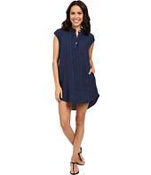 Allen Allen - Stripe Linen Dress
