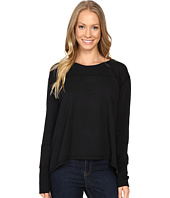Mod-o-doc - Cotton Modal Spandex French Terry Crossover Back Long Sleeve Pullover