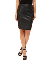 The Kooples - Leather & Metallic Embroidery Skirt