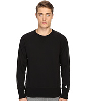 Todd Snyder + Champion - Faux Leather Sleeve-Stripe Sweatshirt