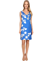 Vince Camuto - Sleeveless Floral Cascade V-Neck Dress