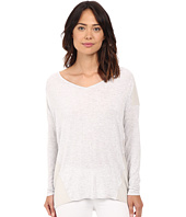 HEATHER - Silk Panel Raglan Top