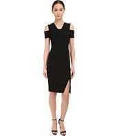 YIGAL AZROUËL - Cold Shoulder Mini Stretch Dress