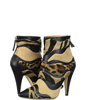 Alberta Ferretti - Calf Leather Mixed Animal Ankle Boot, A1566