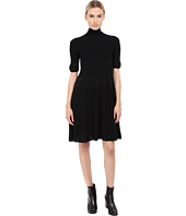 Alberta Ferretti - Mock Neck Short Sleeve Dress