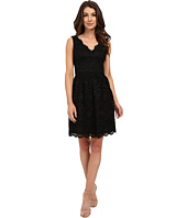 Adrianna Papell - V-Neck Sleeveless Fit & Flare Dress