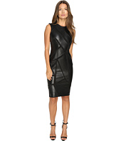 Versace Collection - Leather Geo Sleeveless Dress