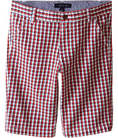 Tommy Hilfiger Kids - Gingham Flat Front Shorts (Big Kids)