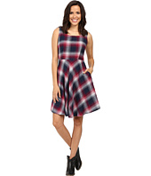 Stetson - Pomegrante Plaid Sleeveless Dress