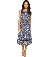 Christin Michaels - Joni Lace Illusion Printed Dress
