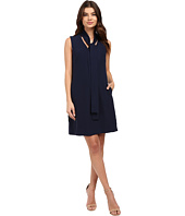 Christin Michaels - Romantic Tie Front Sleeveless Dress