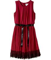 Us Angels - Sleeveless Pleated Chiffon Dress w/ Lace Trim Skirt (Big Kids)
