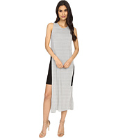Culture Phit - Eleanor Sleeveless Contrast Dress with Side Slit