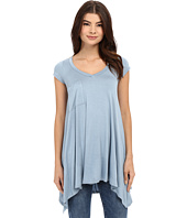 Culture Phit - Aster Sharkbite Hem Cap Sleeve Tunic with Pocket