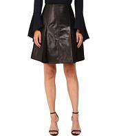 YIGAL AZROUËL - Leather Flair Skirt