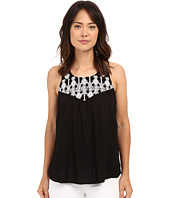 Lucky Brand - Geo Embroidery Bib Top