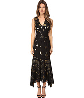 Prabal Gurung - Sleeveless V-Neck Chiffon Flounce Dress