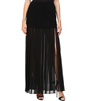 Vera Wang - Tiered Pleated Skirt
