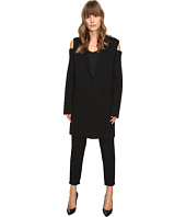 Vera Wang - Long Sleeve Knit Coat w/ Cold Shoulder
