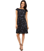 NUE by Shani - Fit & Flare Laser Cutting Dress w/ Side Neckline