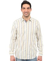 Nautica - Long Sleeve Slub Poplin Stripe