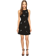 Kate Spade New York - Scattered Brooch Crepe Dress