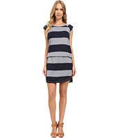 Allen Allen - Stripe Short Sleeve Raglan Dress