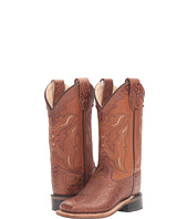 Old West Kids Boots - Square Toe Handed Tooled Print (Toddler/Little Kid)