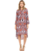 Brigitte Bailey - Else Bell Sleeve Dress with Crossed Tie Detail