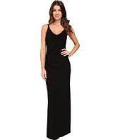 Laundry by Shelli Segal - V-Neck Spaghetti Straps w/ Open Back Gown