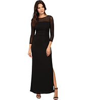 Laundry by Shelli Segal - Matte Jersey Gown w/ Mesh Sleeves