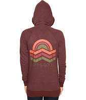 Life is Good - Geometric Sunset Zipped Funnel Neck Topper