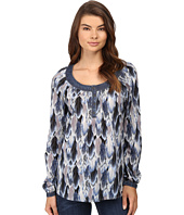 Roper - 0540 Feather Print Peasant Blouse