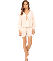 Vince Camuto - Milos Solids Romper w/ Draw String Waist Tie Cover-Up